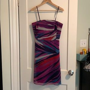 Banana Republic - Water color strapless dress